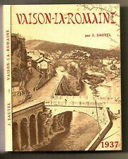 VAISON la ROMAINE Guide Vaucluse Provence Alpes Cote Azur Archeologie Rome 1937
