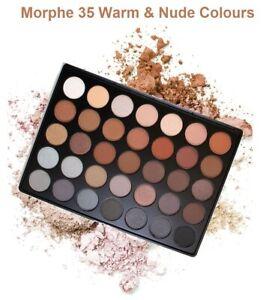Gorgeous Morphe 35c Nude & Warm Eyeshadow Palettes Make Up Eyeshadow 35 Colours