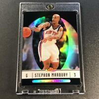 STEPHON MARBURY 2005 TOPPS FINEST #14 BLACK REFRACTOR PARALLEL #'D /99 NBA