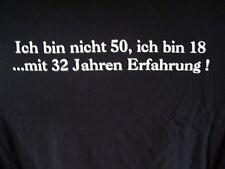 Hanes Fun Shirt Ich bin nicht 50 Geschenk Geburtstag Partygag schwarz XL neu