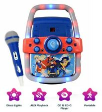 Karaoke Machine DC Super Hero ¦ Girls CD MP3 Player Speaker + MIC System NEW