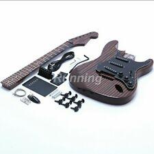 DIY Zebra Guitar Starshine Electric Guitar Kits ST Style Zebra Wood