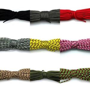 50-100FT Army Military Paracord 2mm Tent Bivi Camping Guy Rope Parachute Cord