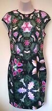 Ted Baker Green Floral Natural Kingdom Geo Dress Size 2 UK 10 to