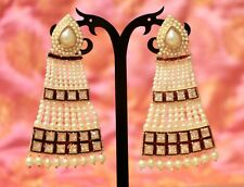 White Color Jhumki Bali Jhumka Earring New Indian Ethnic Gold Plated Pearl Moti