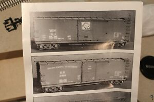 WP Western Pacific Sunshine Models #59A Signature Boxcar Kit in HO Scale