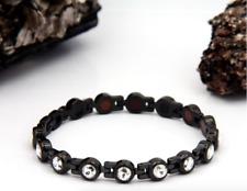 Authentic Pur life Negative Ion Bracelet ELEGANT SWAROVSKI BLACK take 35% OFF!!