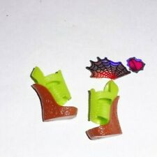 Monster High Doll Clothes Green Wedge Shoes Skelita Scaris