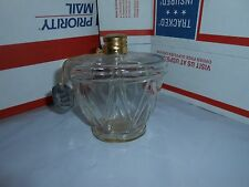 VTG 1940'S CHARBERT THE FRENCH TOUCH EMPTY 6 OZ PERFUME BOTTLE W/ LID & TAG