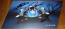 Le Mans 2016 - FIA WEC LMP2 Winners Signatech Alpine A460 Nissan #36 Signed Card