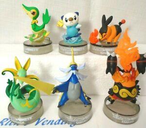 6 Pokemon Black & White Figures Tepig Emboar Snivy Oshawott Serperior Samurott