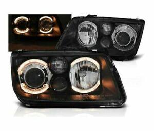 VW BORA BLACK PROJECTOR ANGEL EYE HEADLIGHTS HEADLAMPS 5/1998-11/2005 MODEL