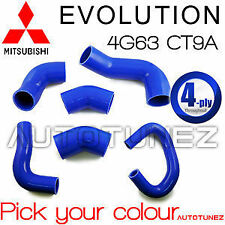 Mitsubishi Lancer Evolution EVO 7 8 9 Intercooler Silicone Hose Kit CT9A 4G63 OZ