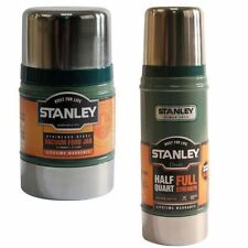 2PC STANLEY 0.75L VACUUM FLASK 0.5L FOOD JAR STAINLESS STEEL HOT COLD THERMOS