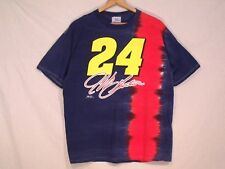 #24 Jeff Gordon tie dye blue red T shirt / men L to XL / washed look / b31