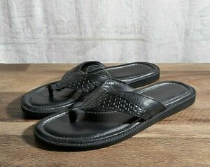 Tommy Bahama Men's Anchors Astern Dress Sandal Black 12 MED D Flip Flops Black
