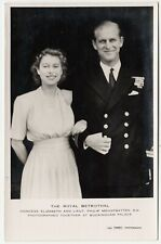 ROYAL BETROTHAL - Queen & Prince Philip - Raphael Tuck Real Photo - c1940s era
