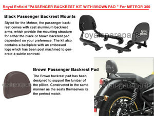 Genuine Royal Enfield Meteor 350 Passenger Backrest Kit With Brown Pad