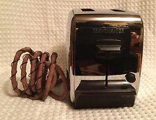 Vintage Toastmaster Chrome & Bakelite Automatic Toaster Model 1B18 2 Slice