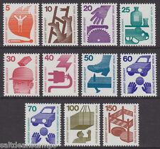 Berlino - 1971-74 prevenzione degli incidenti (11v) - UM/Gomma integra, non linguellato