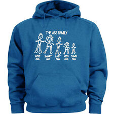 The Ass Family sweatshirt funny hoodie blue men's sweats hoodie