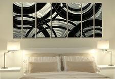 Silver & Black Contemporary Modern Metal Wall Art - Crossroads by Jon Allen