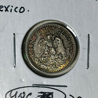 1933 Mexico 20 Centavos Silver Coin UNC Condition