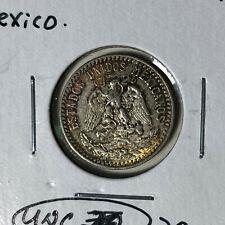 1933 Mexico 20 Centavos Silver Coin UNC Condition