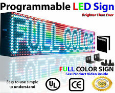 """LED Full color Sign P10, 6"""" x 50"""" programmable Scrolling Text OUTDOOR Message"""