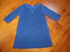 CREWCUTS 3T Blue Metallic Thread Sweatshirt Dress 3/4 Sleeve