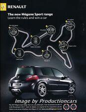 2007 Renault Megane Sport - Original Advertisement Print Art Car Ad J725