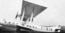 F-180 Oiseau Bleu Farman France Airplane Wood Model Replica Large Free Shipping