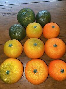 Lot Of 11 Vintage Oranges Ripe And Unripe
