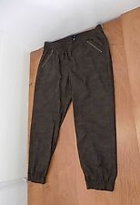 GAP Mens Camo Jogger Pants Sz XL X-Large Brown Multi-color Elastic Waist & Cuffs
