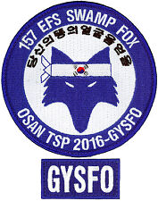 USAF 157th EXPEDITIONARY FIGHTER SQUADRON - TSP OSAN DEPLOYMENT 2016 - PATCH SET