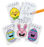Pack of 12 - Colour Your Own Easter Mini Notebooks Egg Hunt Party Bag Fillers