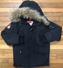 Canada Weather Gear Womens Black Faux Fur-Trim Puffer Black Coat Jacket Small S