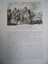 FRANCOIS MATHIEU Grenadier de la 73e Brigade. 20 nivose an 9. 10 janvier 1800