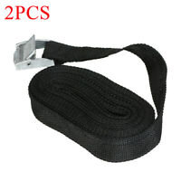 2Pcs 5m Tie Down Strap Ratchet Belt Luggage Bag Cargo Lashing Metal Buckle G5I6