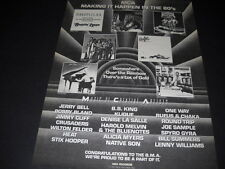 Mca 1981 Promo Display Ad Rufus B.B. King Bill Summers Klique One W