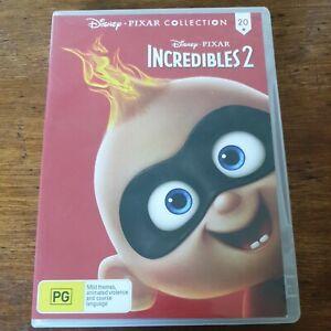 Incredibles 2 Disney Pixar DVD R4 Like New! FREE POST