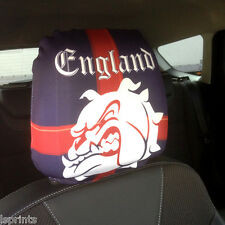 CAR SEAT HEAD REST COVERS 2 PACK ENGLAND ST GEORGE CROSS BULLDOG DESIGN