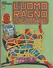 L' UOMO RAGNO GIGANTE  # 10  CATTURATO DA J. J. JAMESON editoriale corno 1977