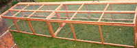 LARGE 15FT CHICKEN RABBIT POULTRY HEN GUINEA PIG FERRET RUN CAGE HUTCH PEN RUNS