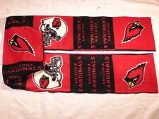 Arizona Cardinals Squares Football Fleece Scarf