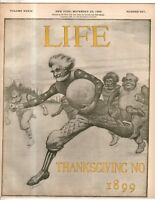 1899 Life November 23 - Thanksgiving football; Carnegie, Debs, Depew, Croker