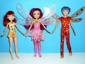 *Mattel Puppen*Mia and Me Elfen Set,Mia`s Flügel leuchten,Mo+Yuko*