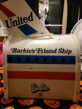 Large Vintage Barbie's Friend Ship United Airlines Folding Airplane 0000040C