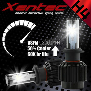 H4 48800LM COB LED Bulb HID Hi/Low Beam Motorcycle Headlight 6000K High Power