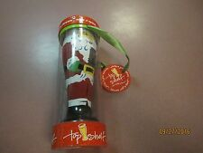 TOP SHELF HAND PAINTED SANTA CLAUS 24oz CHRISTMAS Glass NIB BARWARE WITH A TWIST